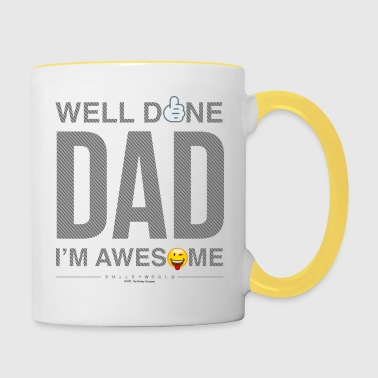 SmileyWorld Well Done Dad - Tasse zweifarbig