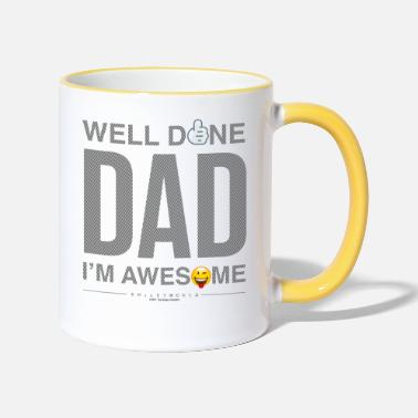 SmileyWorld Well Done Dad - Contrasting Mug