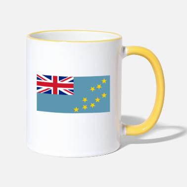 Flag of Tuvalu. - Two-Tone Mug