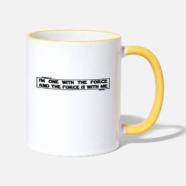 The Force I am one with The Force and The Force is with me - Two-Tone Mug