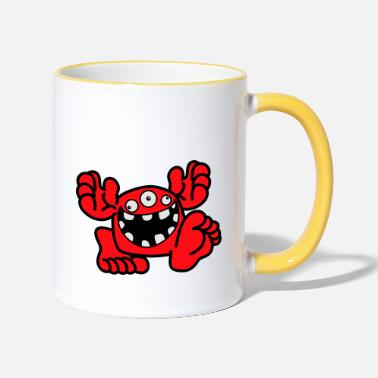 Proud To Be A Monster Cartoon by Cheerful Madness! - Two-Tone Mug
