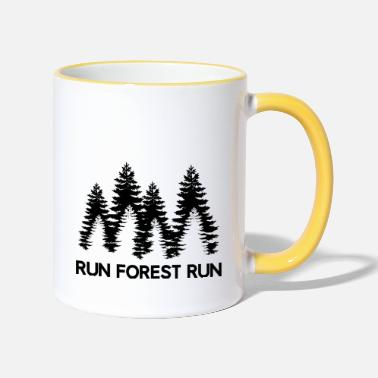 Cour Cours Forest cours - Mug bicolore