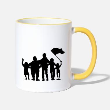 Fan fussballfans - fan - fans - Two-Tone Mug