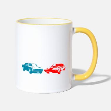 Muscle Muscle Car Car Retro Design - Two-Tone Mug