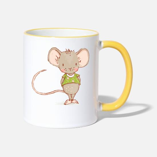 Mouse Mugs & Drinkware - mouse - Two-Tone Mug white/yellow