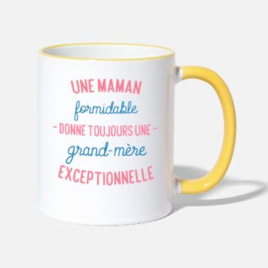 Maman maman formidable grand mère exceptionnelle - Mug bicolore