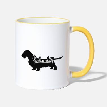 Wire-haired Dachshund Wire-haired dachshund lettering wire-haired dachshund - Two-Tone Mug