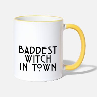 Baddest Baddest witch in town - Two-Tone Mug