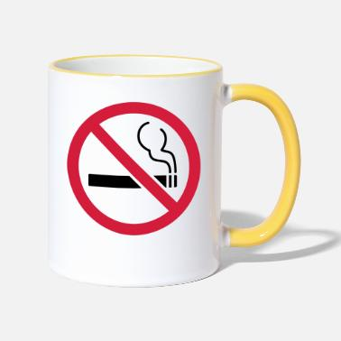 Smoking No smoking No smoking - Two-Tone Mug