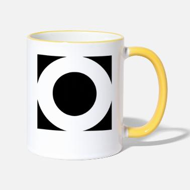 Square SQUARES VIERECKE CLEAN - Two-Tone Mug