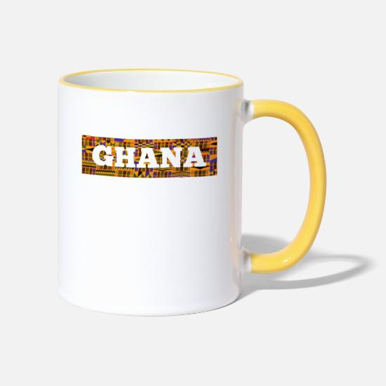 Nigeria Mugs & Drinkware - Ghana - Two-Tone Mug white/yellow