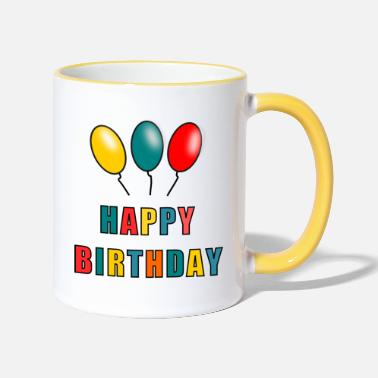 Best-seller HAPPY BIRTHDAY. JOYEUX ANNIVERSAIRE. ANNIVERSAIRE. - Mug bicolore