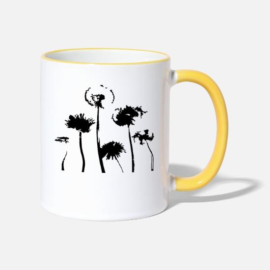Ease Mugs & Drinkware - dandelion - Two-Tone Mug white/yellow
