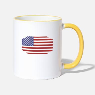 State Flag United States flag - Two-Tone Mug