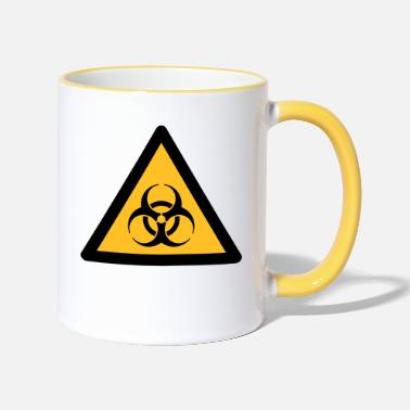 Hazard Symbol - Biohazard (2-color) - Two-Tone Mug