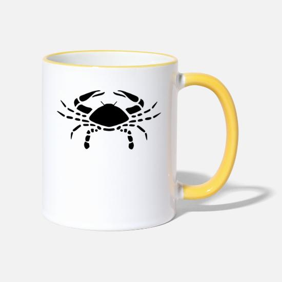 Sign Mugs & Drinkware - Zodiac sign cancer - Two-Tone Mug white/yellow