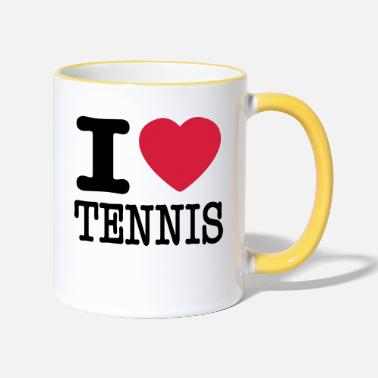 Love i love tennis - Two-Tone Mug