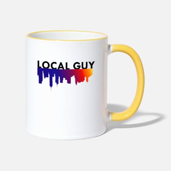 Country Mugs & Drinkware - Local Guy / City / Gift - Two-Tone Mug white/yellow