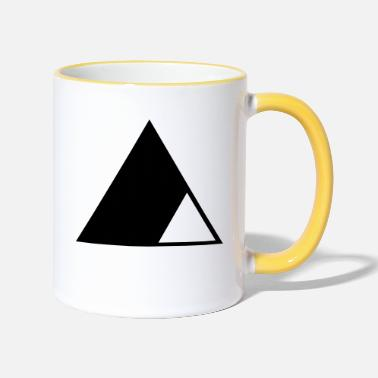 Triangle Triangle in the triangle - Two-Tone Mug