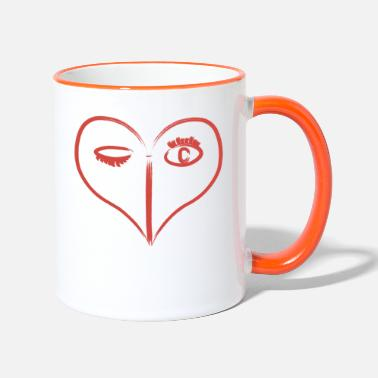 Red Heart Red Heart - Two-Tone Mug