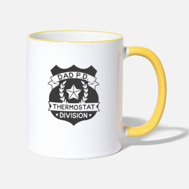 dad pd thermostat division gift Father Father's Day - Two-Tone Mug