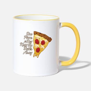 One Pizza a Day Keeps the Doctor Away - Tasse zweifarbig