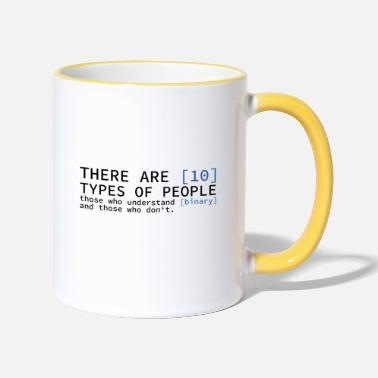 Admin There are 10 types of people gift computers - Two-Tone Mug