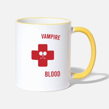 Magic Save A Vampire Donate Blood Tshirt Design - Two-Tone Mug