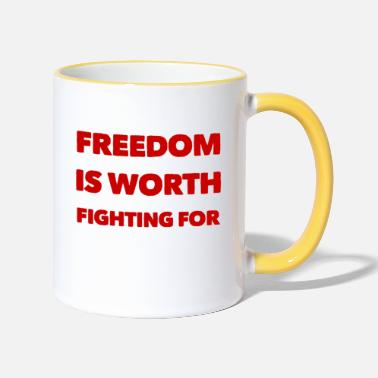 Freedom Of Expression Fight for freedom - Two-Tone Mug