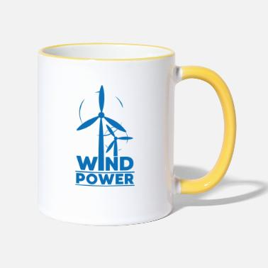 Global Wind power environmental protection gift environment - Two-Tone Mug