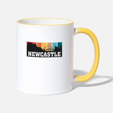 Uk Newcastle Angleterre Voyage Souvenir Skyline Landmark - Mug bicolore