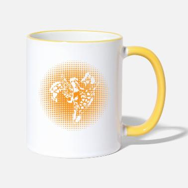 Year Giraffe love mom and baby family gift idea - Two-Tone Mug