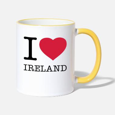Love I LOVE IRELAND - Two-Tone Mug