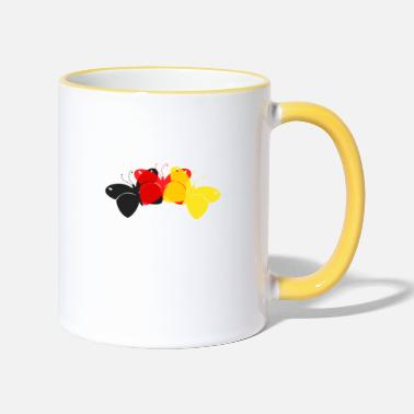 Germany Butterflies - Two-Tone Mug