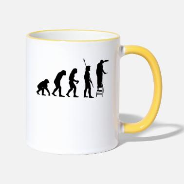 Site ÉVOLUTION DE CONSTRUCTION DE SITES ! - Mug bicolore