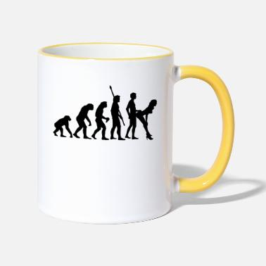 Evolution fucking_evolution_b - Tasse zweifarbig