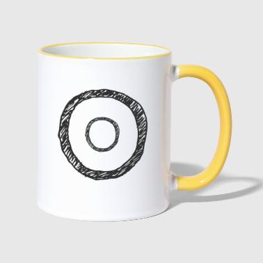 Les cercles minimum - Mug contrasté