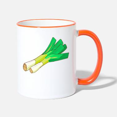 Common Tropical Fruits Leeks leeks broadleaf winterwort onion - Two-Tone Mug