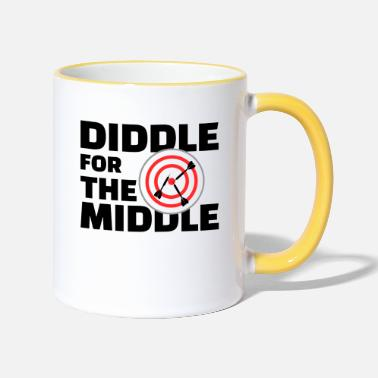 Middle Ages Diddle for the Middle w - Tasse zweifarbig