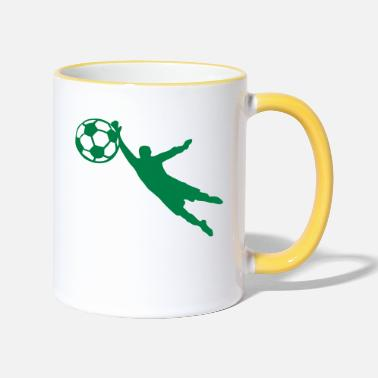 Goalie Soccer Football soccer goalie ball1 - Two-Tone Mug