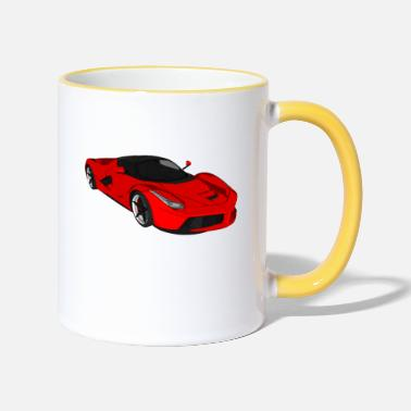 Sports Car Sports car sports car racing car convertible - Two-Tone Mug