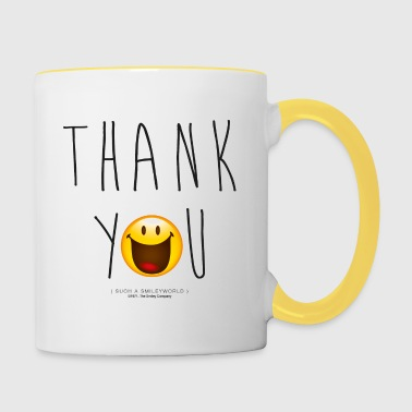 Smileyworld Thank You - Contrasting Mug