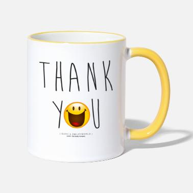 Officialbrands Smileyworld Merci Thank You - Mug contrasté