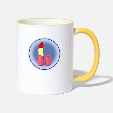 Lipstick Lipstick, lipstick color - Two-Tone Mug