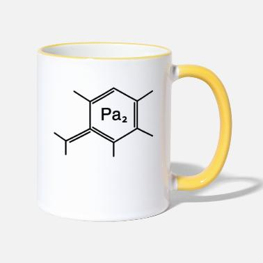 Family Junior Daughter Mom Father chemical papa - Two-Tone Mug