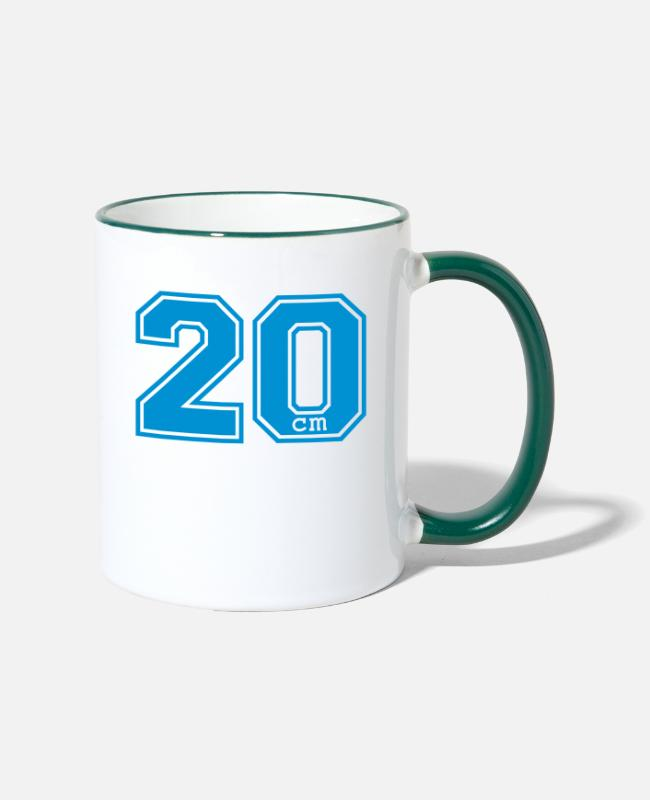 Humor College Humour Mugs & Drinkware - 20 centimeter - Two-Tone Mug white/dark green
