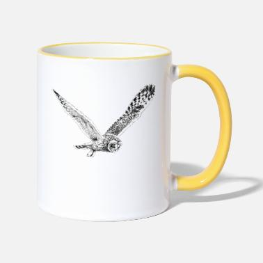 Owl In Flight - Two-Tone Mug