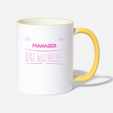 Manager Manager t shirt drole pour Manager - Mug bicolore