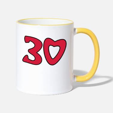 Thirty 30 - Thirty - Two-Tone Mug