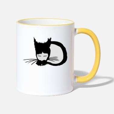 Koneko - Little Cat - ( Petit chat ) - Mug bicolore